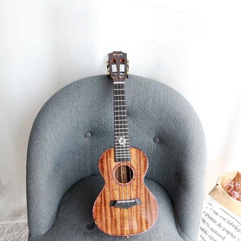 "Enya k5 ukulele 5a tiger stripe koa ukelele 26 ""23"" hawaii guitarra 4 cordas mini guitarra instrumentos musicais profissionais"