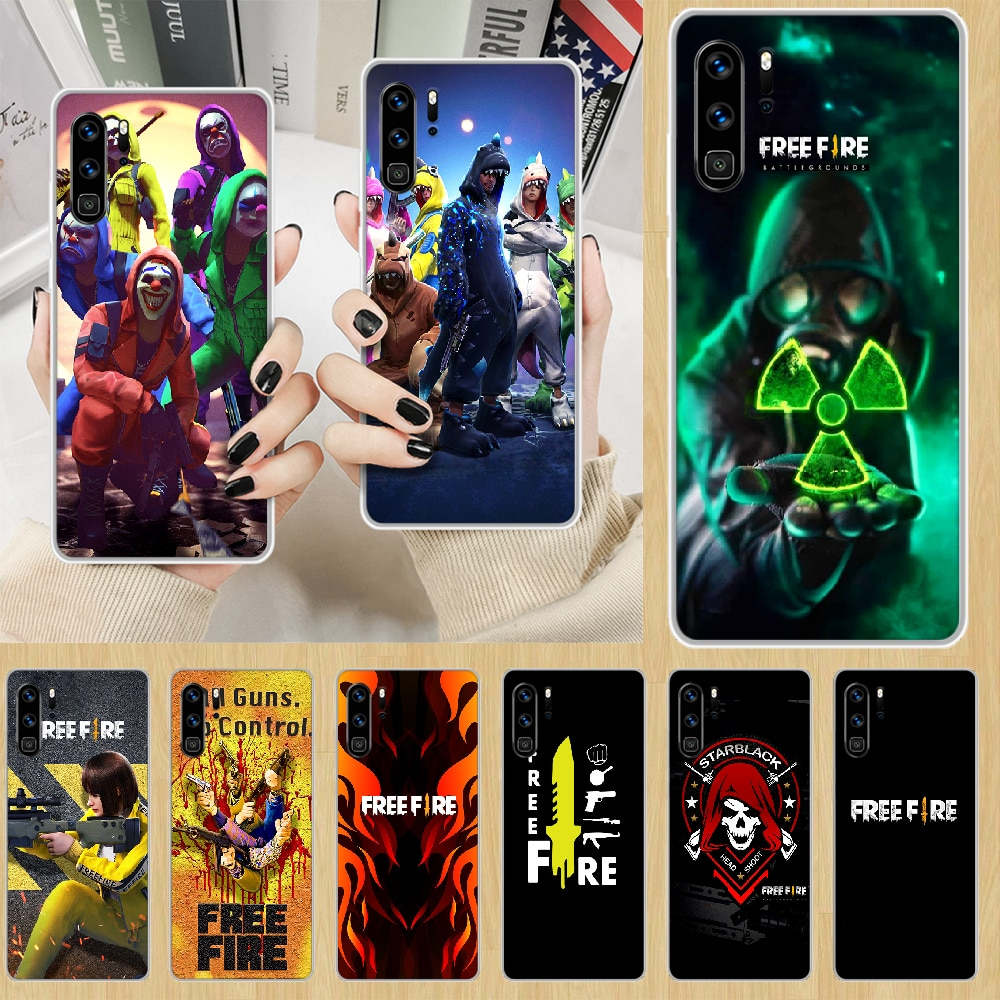 free fire Battle Royale game Phone Case hull For HUAWEI p 8 9 10 20 30 40 smart Lite 2017 19 Pro Z transparent shell tpu coque