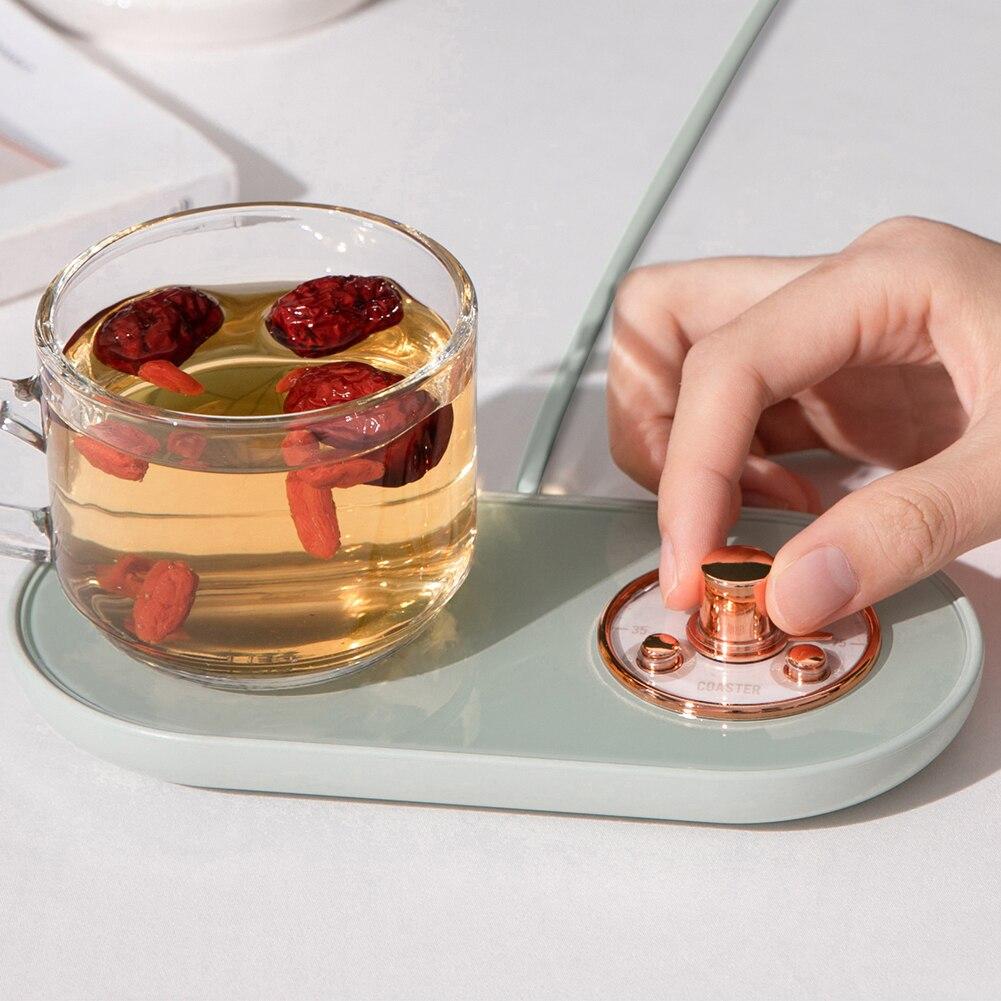 5v copo aquecedor aquecedor usb inteligente termostatica copo coaster aquecimento