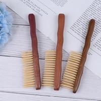 New 1pcs Natural Sandalwood Hair Comb Handmade Wooden Com Anti-hair Loose Hair Combsb Detangling Wide Tooth Comb