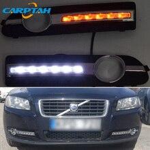 LED Daytime Running Light For Volvo S80 2009 - 2012 2013 Waterproof 12V Yellow Turn Signal Indicator Light Bumper Lamp LED DRL
