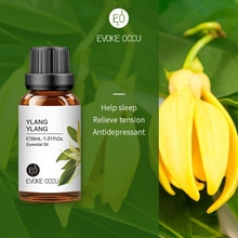 EO 100ml Ylang Ylang Plant Essential Oil with Dropper for Lower Blood Pressure Skin Care SPA Body Ma