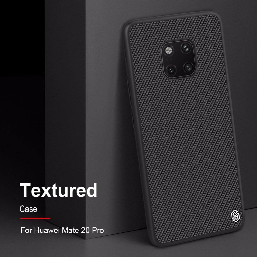 Funda NILLKIN Huawei Mate 20 con textura de Panel duro de PC de fibra de Nylon + carcasa trasera de marco de TPU para Huawei Mate 20 Pro