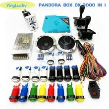 3D pandora boîte DX kit darcade avec joystick américain happ bouton jamma câble jeu arcade plateau construit 3000