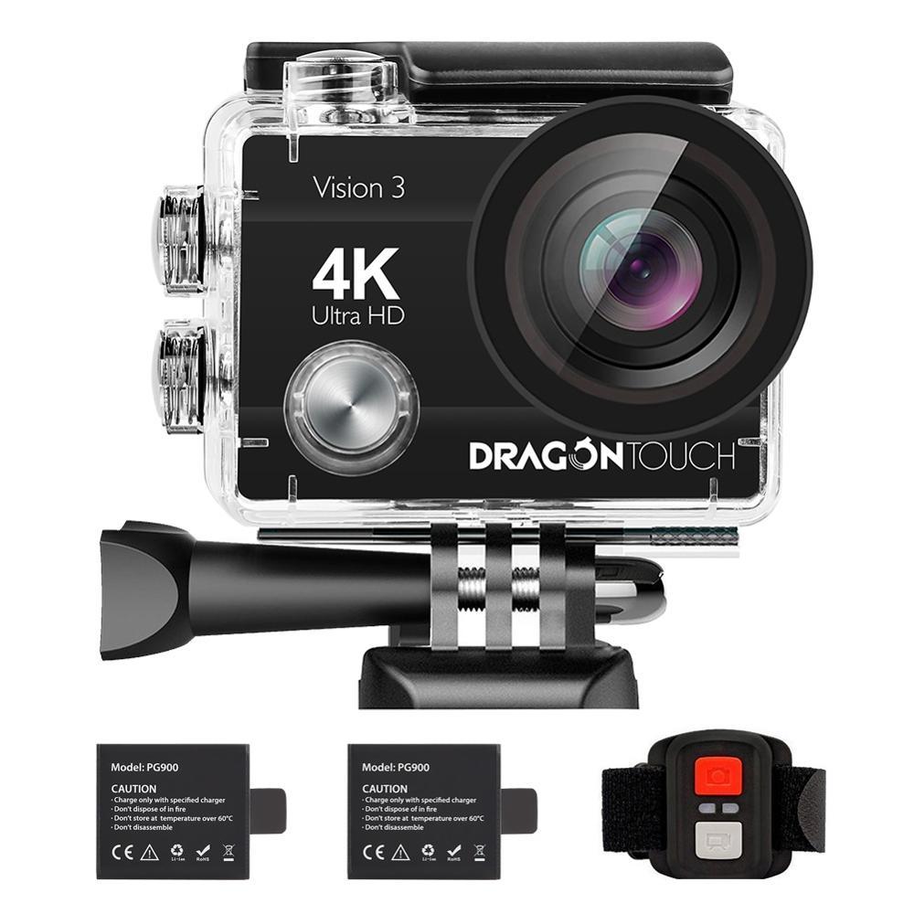 التنين لمس الرؤية 3 واي فاي عمل كاميرا 4K 16MP تحت الماء كاميرا مقاومة للماء 170 درجة عرض التحكم عن بعد خوذة الرياضة
