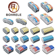 Mini Fast Wire Cable Connectors Universal Compact Conductor Spring Splicing Wiring Connector Push-in