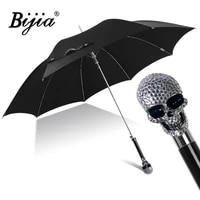 black long handle umbrella business adult uv protection windproof fashion umbrella outdoor guarda chuva rain gear bd50uu