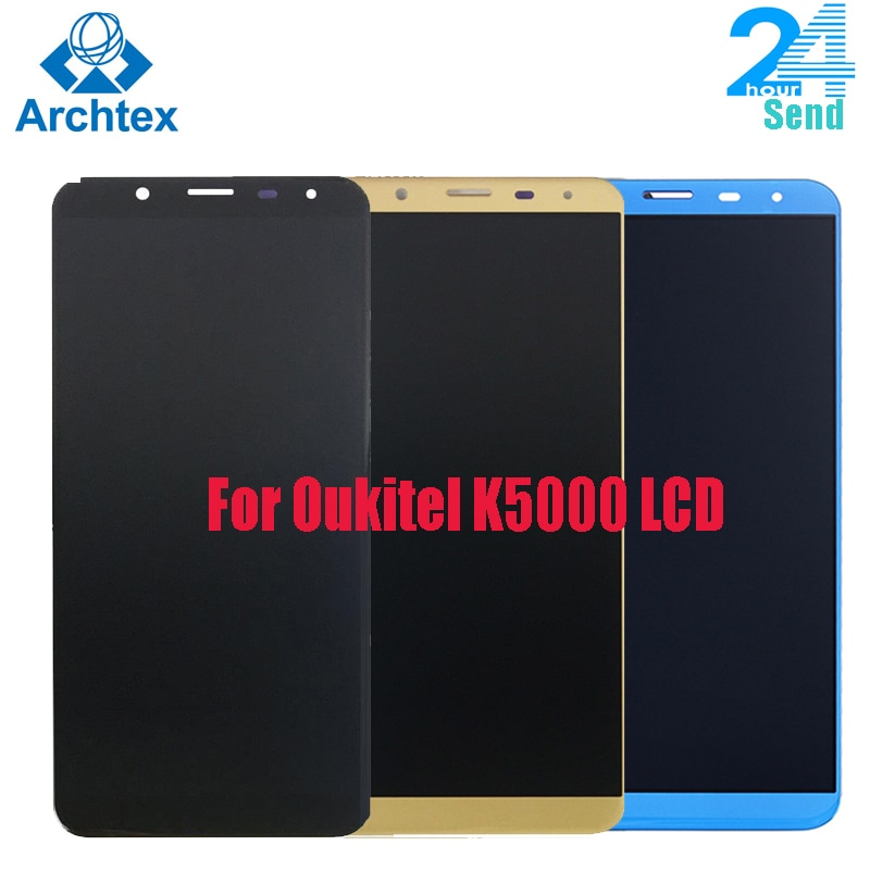 Para 100% Original Oukitel K5000 pantalla LCD + montaje de pantalla táctil prueba de LCD digitalizador de reemplazo del panel de vidrio de 5,7 pulgadas