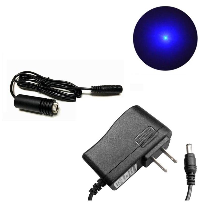445 нм 450 нм 100 мВт фокусируемый синий лазер диод точка модуль 18x45 мм с 5 В адаптер для DIY лазер гравировка резка