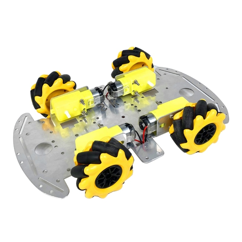 DIY Toy Car Chassis with McNum Omnidirectional Wheel Simulation RC Car Replaceable Interior Chassis