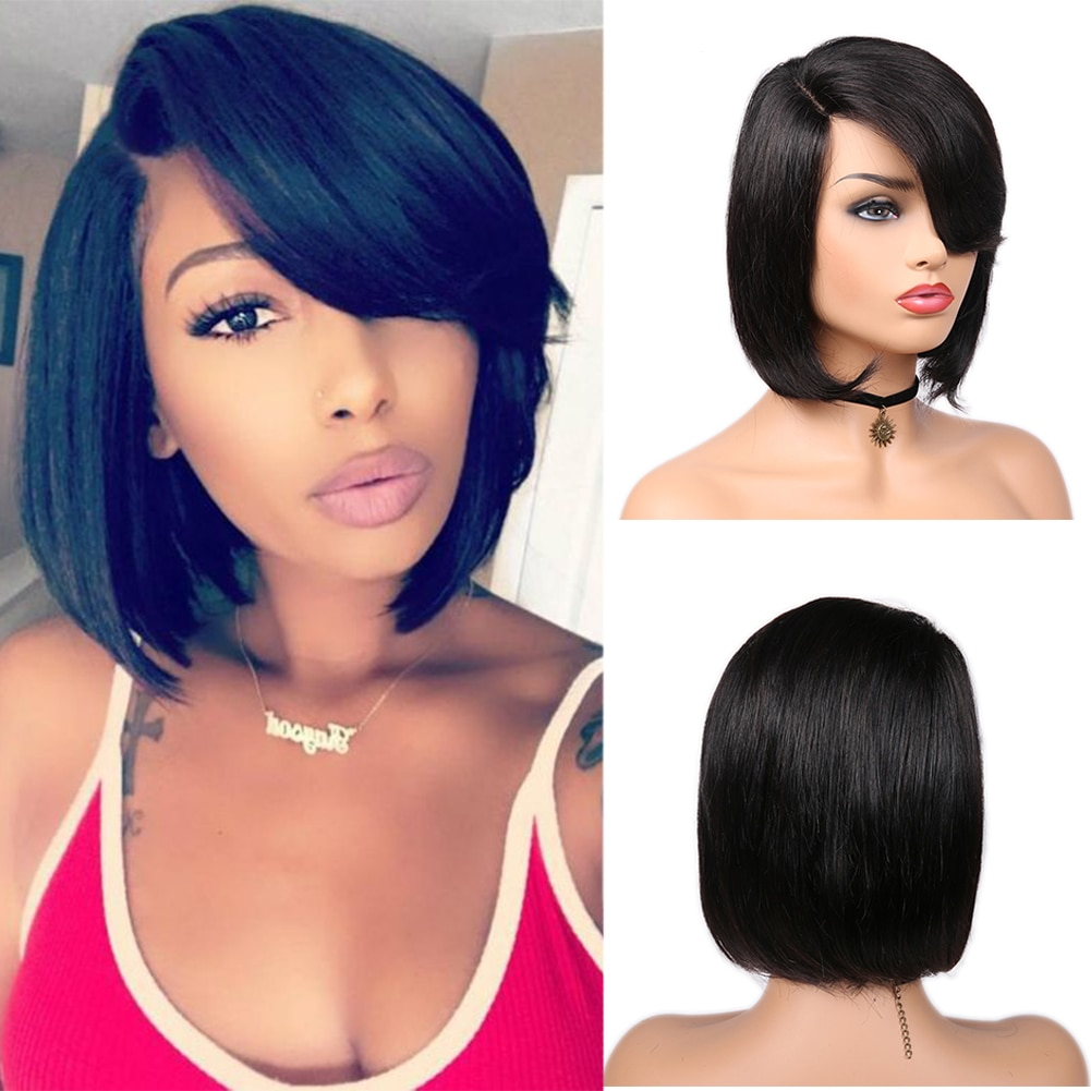 FAVE Pixie Cut парик Боб кружевные передние парики короткий боб парик кружевная Часть бразильские человеческие волосы парики для черных женщин предварительно выщипанный парик шнурка