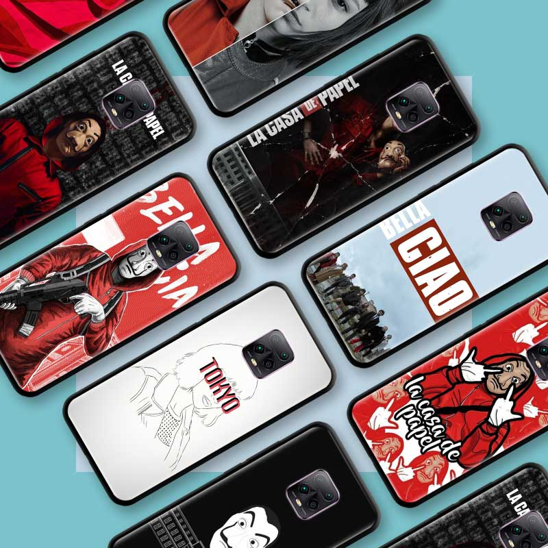 Negro Tpu Capa para Xiaomi Redmi Nota 8 9S 8T 9 7 10X 5G K30 Pro Zoom 7A 8A K30i Coque teléfono casos España TV La Casa De Papel