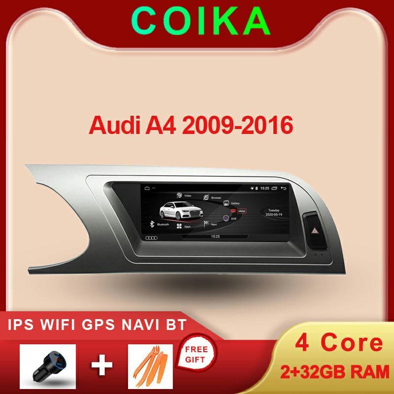 "COIKA 8.8 ""Android 10,0 System Auto DVD Radio Für Audi A4 2009-2016 IPS Spiegel Screen GPS Navi carplay WIFI Google BT Musik SWC"