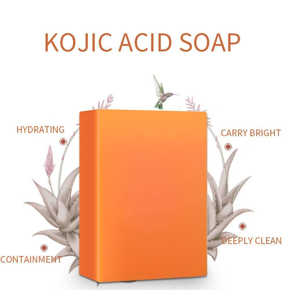 Dark Black Skin Lightening Soap Kojic Acid Whitening Soap Kojic Acid Glycerin Brighten Face Body Skin Bleaching Soap 140g