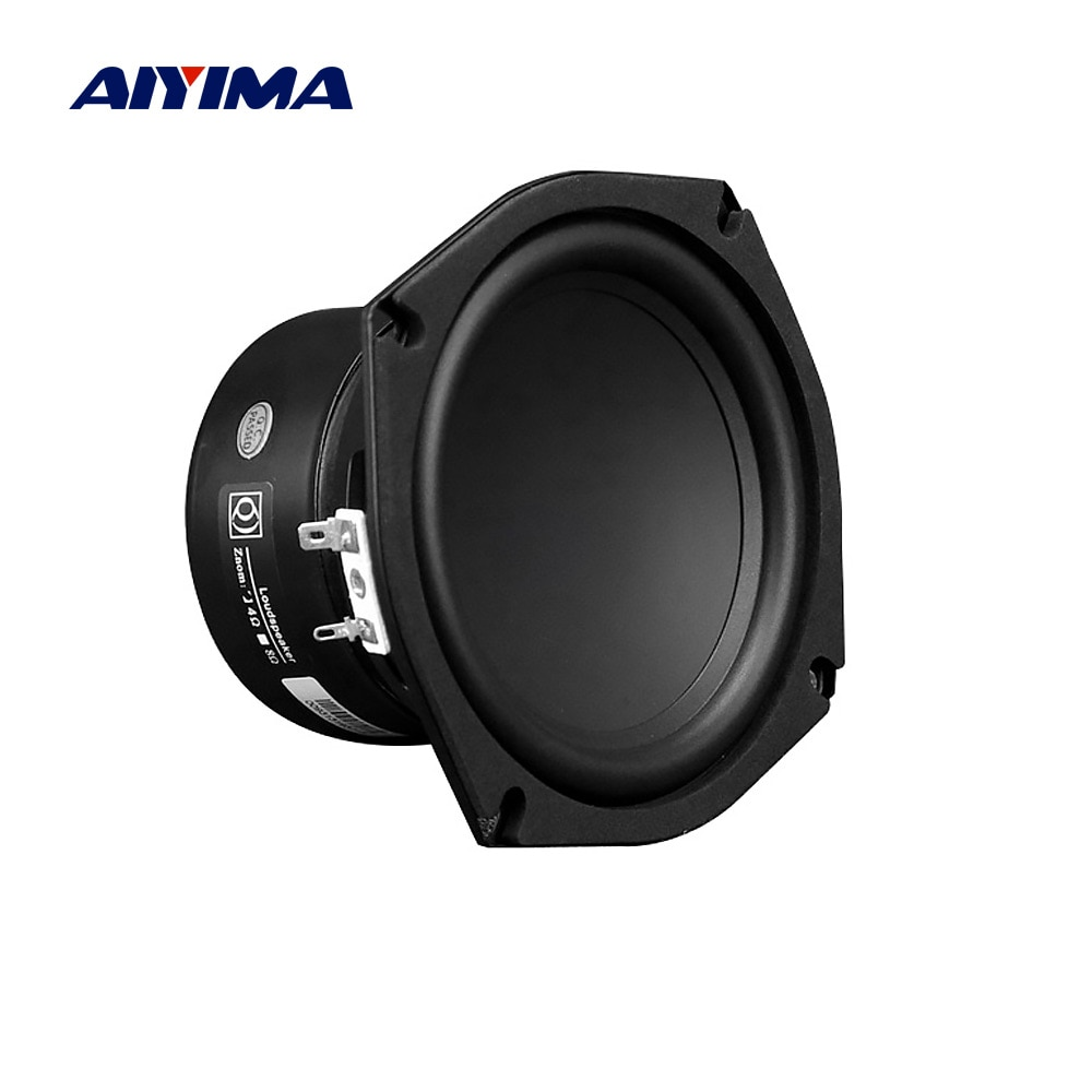 AIYIMA 1 قطعة 5.25 بوصة مكبر الصوت المتكلم 4 8 أوم 50W باس طويل السكتة الدماغية الصوت المتكلم سائق التردد المنخفض مكبر الصوت مضخم صوت DIY
