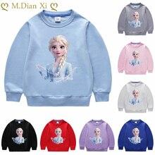 Sweat-shirts pour filles 1-8Y sweat-shirt pour enfants congelés Elsa hauts de noël pour filles enfants Costume bébé filles vêtements à capuche
