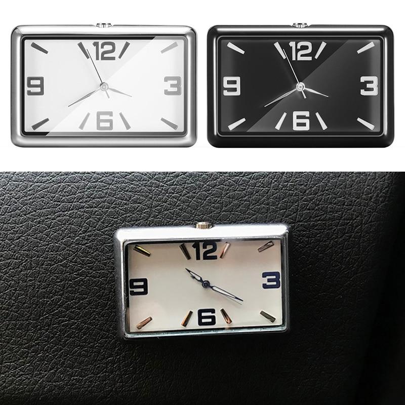 Auto Quartz Watch Automobile Interior Stick-On Clock Vehicle Dashboard Time Display Clock Decoration Ornament Car Accessories