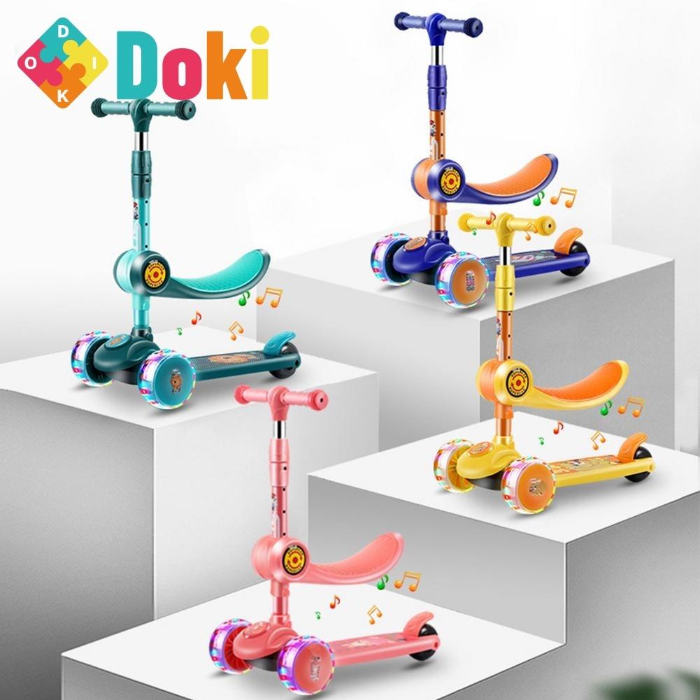 الأطفال ركلة سكوتر للطي سكيت الاطفال قابل للتعديل ارتفاع ضوء وماض 3 عجلات القدم سكوتر صبي فتاة سكوتر الهدايا