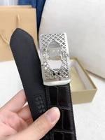 mcparko belt male genuine leather belt men automatic buckle luxury mens belts crocodile with stainless steel buckle wide 35mm