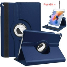 360 Degree Rotating Leather Smart Cover for iPad Air 2 Air for iPad 9.7 2018 2017 Adjustable Height