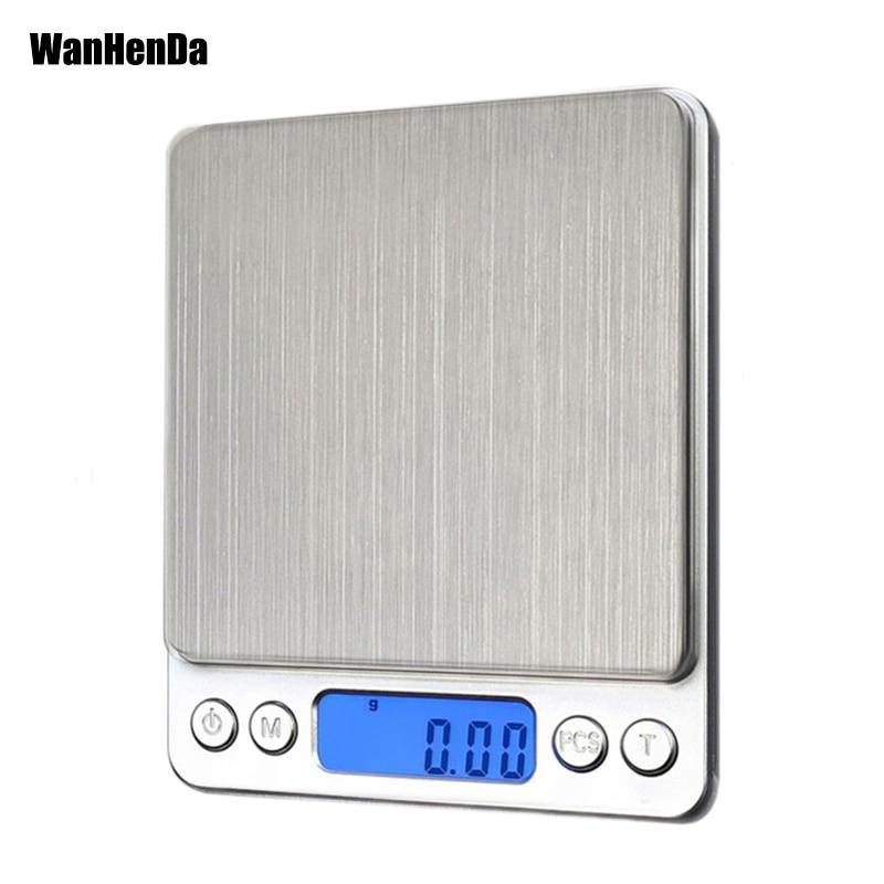 NEW 500/0.01g 3000g/0.1g LCD Portable Mini Electronic Digital Scales Pocket Case Postal Kitchen Jewe