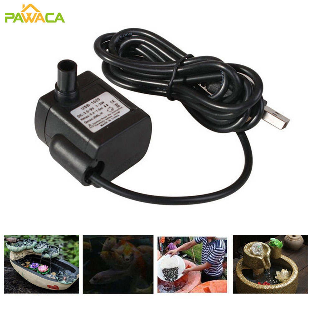 mayitr dc 12v 19w ultra quiet mini motor submersible water pump ip68 800l h brushless pump for aquarium fountain air fish tank Ultra-Quiet Mini Brushless DC/USB Water Pump 3.5-9V 3W 200L/h Lift Submersible Fountain Aquarium Circulating Air Fish Pond Tank