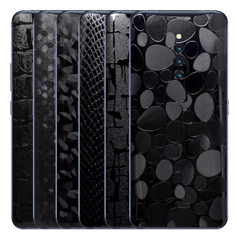3D fibra de carbono envoltura de piel de la piel del teléfono de la espalda pegatina para Vivo X21 X23 X27 X27 Pro Maya diamante cocodrilo pegatina película protectora