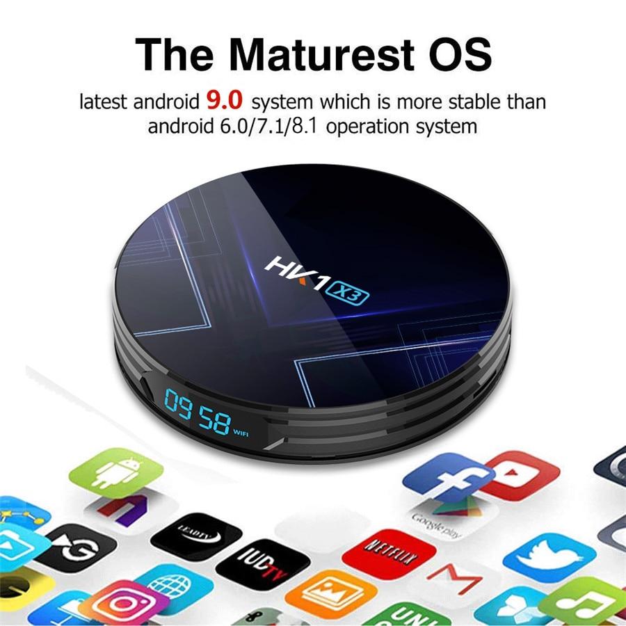HK1 X3 Android 9.0  1000M Smart TV Box Amlogic S905X3 8K 4GB 128GB 64GB 32GB 2.4G&5G Wifi 4K Media Player TV Box PK X96 AIR IP