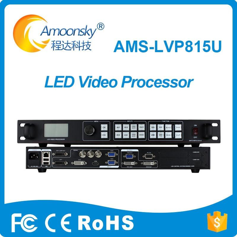 Ams-lvp815u شاشة led المعالج دعم linsn led نظام بطاقة التحكم لشاشة فيديو كبيرة في الهواء الطلق