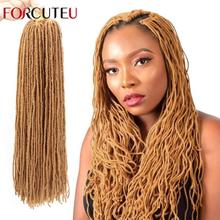 Dreadlock âme soeur serrures Afro Crochet Faux Micro Locs Crochet tresses cheveux Ombre couleur 12 & 18 pouces noir brun cheveux synthétiques
