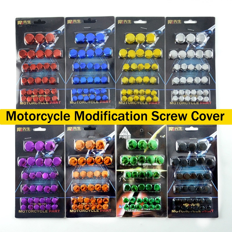30Pcs/Set Motorcycle Modification Accessories Head Screw Cover Decorative Parts for Yamaha Kawasaki Honda r30 Nuts Styling Cover