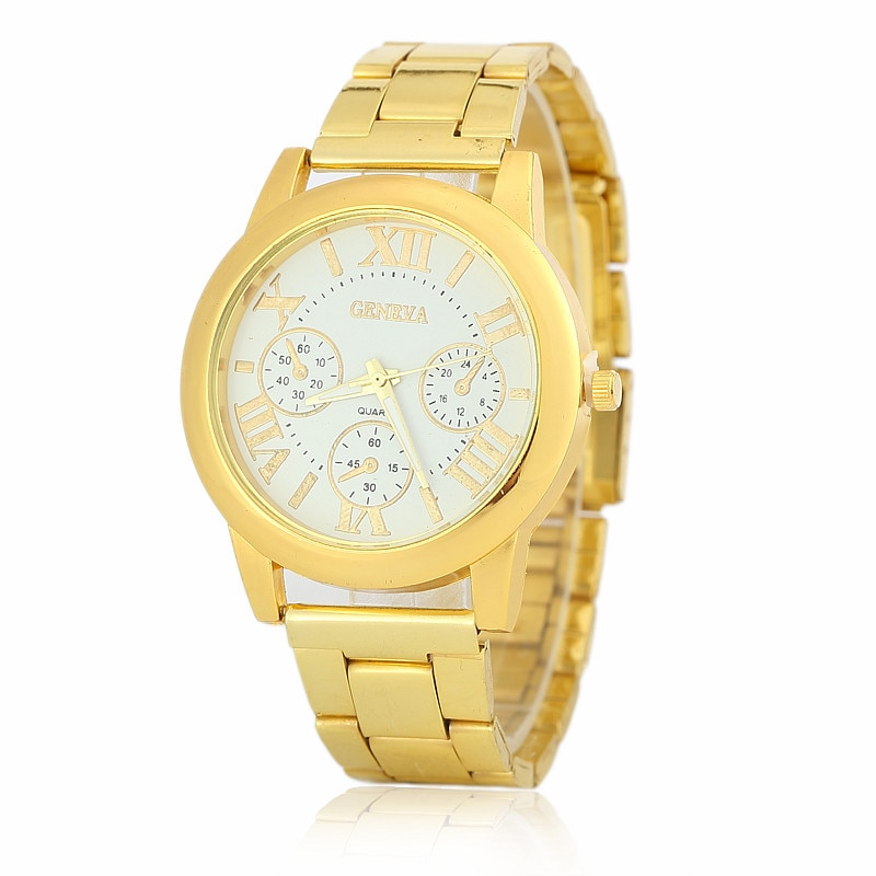 Cross-border stainless steel pink quartz watch men and women best selling business wish explosion