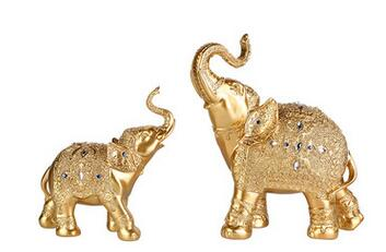 Thai elephant gold and silver Taiping Ji elephant ornaments home porch TV cabinet animal ornaments decoration