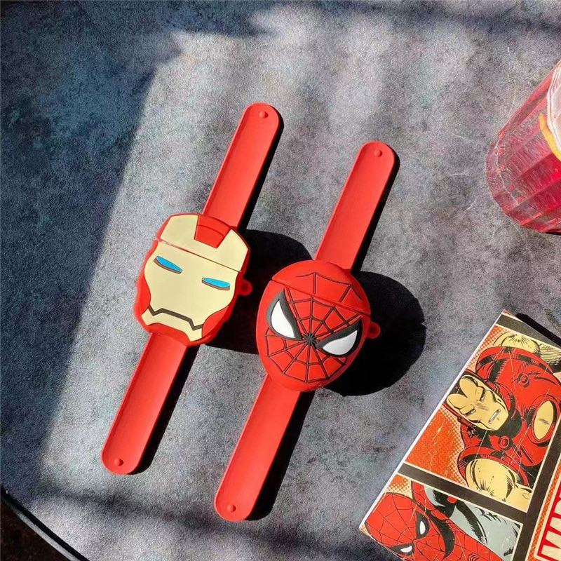 Nuevo estuche para reloj de juguete airpods 1/2 funda protectora de Iron Man Mickey Sakura para apple auriculares airpods con pulsera
