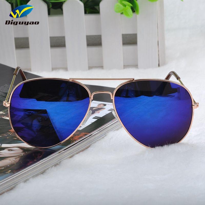 Óculos de sol feminino 2020 óculos de aviações de metal azul anti-reflexo retro feminino tons de sol sonnenbrille herren