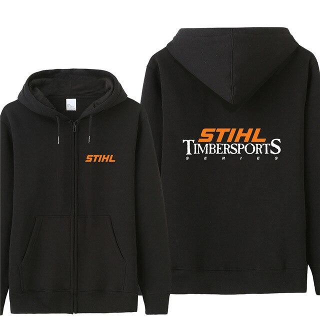 Otoño Stihl Timbersports serie sudadera hombres moda abrigo Fleece Pullover Unisex hombre sudadera A