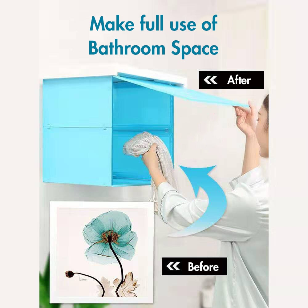 Настенная полка для ванной комнаты, полка для хранения унитаза, складная настенная коробка для хранения, бесплатный дырокол, настенная корз...