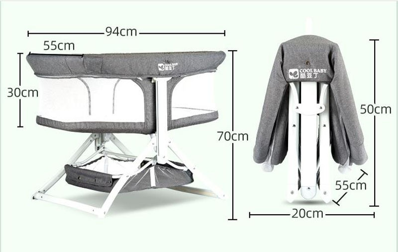 Babycare Mobile Baby Crib Travel Portable Baby Cot Folding Newborn Crib Bed Portable Baby Nest Bed Nursery Furniture enlarge
