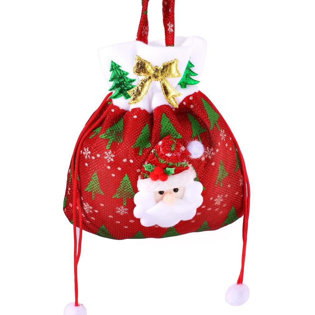 Christmas Gift Handbag Drawstring Candy Bag Merry Sweet Bags Present Home Party Xmas Decoration For Children