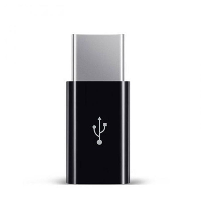 HPES USB hembra a tipo C macho adaptador para Letv Xiaomi mi 5X Oneplus Samsung S9 S8 Plus negro