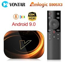 VONTAR X3 8K 4GB 128GB Android 9.0 TV Box Amlogic S905X3 1000M Dual Wifi 4K 60fps Google Player Yout