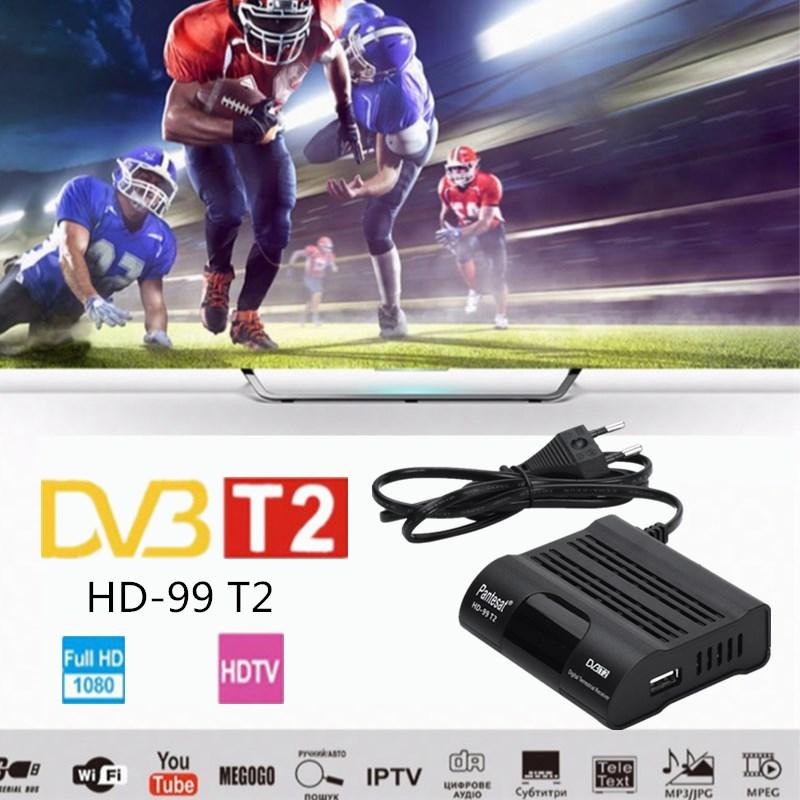 DVB HD-99 T2 משלוח דיגיטלי טלוויזיה תיבת 1080P כבל מקלט DVBT2 טיונר Dvb T2 מקלט לווין טלוויזיה Dvb-t2 Youtube IPTV להגדיר תיבה עליונה