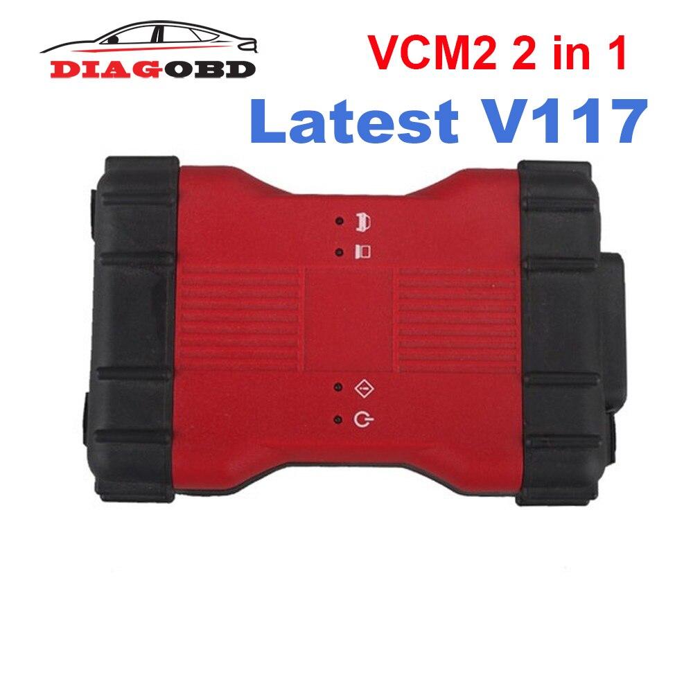Lo más nuevo para Ford VCM2 VCM II 2 en 1 herramienta de diagnóstico para Ford VCM2 IDS V117 y Mazda VCM2 IDS V117