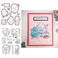 sending love post mialbox 2021 new transparent stamps and dies for diy scrapbooking paper cards making crafts clear stamps