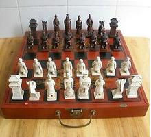 YM 304 chinois 32 pièces jeu déchecs/boîte/XIAN terrasses guerrier décoration de jardin 100% réel argent tibétain