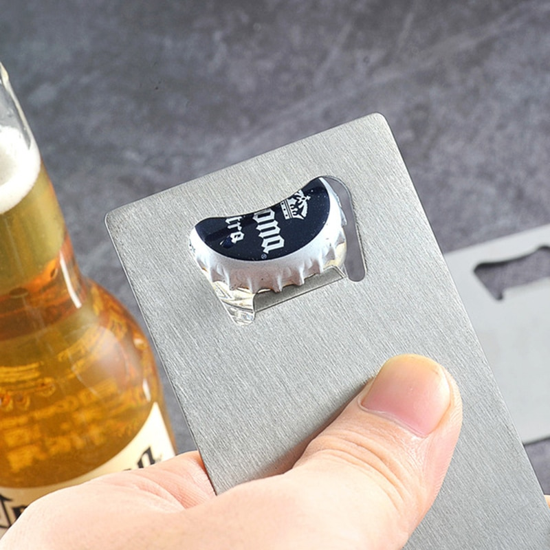 20/40 Uds. Abridor de botellas de cerveza cuadrado duradero de acero inoxidable de velocidad plana abridor de botellas removedor de cuchillas de cocina