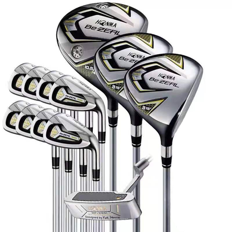 HONMA golf club set HONMA BEZEAL 525 men's golf club full set with head cover graphite driver fairway wood + U19 + iron + putter