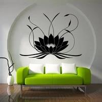 Affiche murale en vinyle Mandala Lotus  decoration de beaute  Design artistique  Sticker de mode  pour chambre a coucher  W686