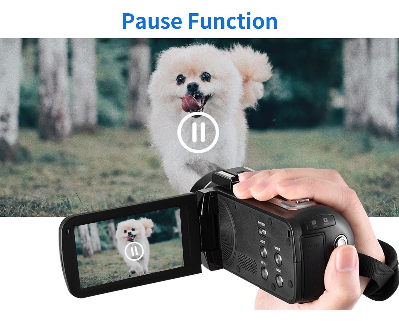 Video Camera YouTube Camera for Vlogging IR Night Vision UHD 4K Webcam 48MP 16X Digital Camcorder