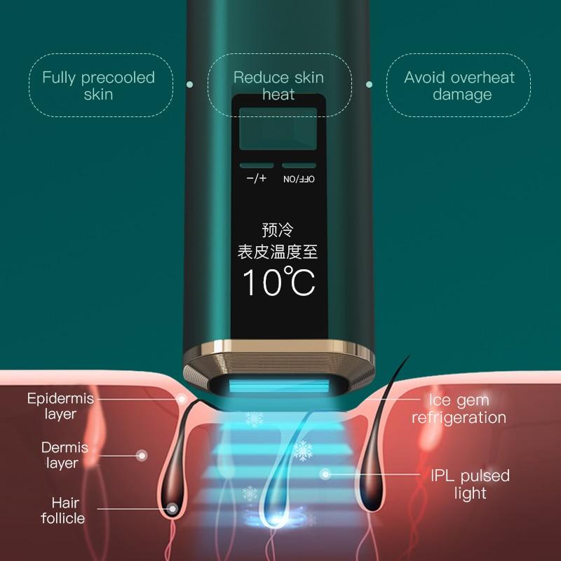 Sapphire Laser Epilator IPL Hair Removal Device Photoepilation Painless Facial Ice mode Pulsed Light Women Men Home Epilator enlarge